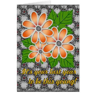 Cartão Margarida Jeweled #2 (cartão de aniversário)