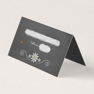 Cartão Margaridas e mesa rústica do convidado do quadro
