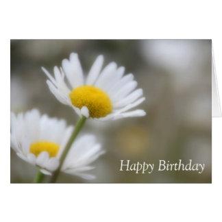 Cartão Margaridas selvagens do feliz aniversario