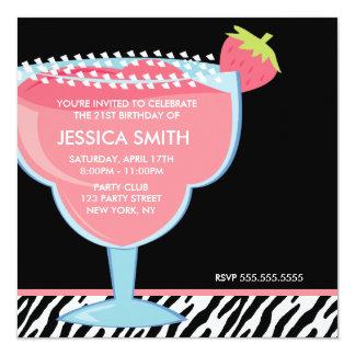 Cartão Margarita cor-de-rosa