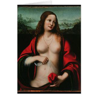 Cartão Maria Madalena, por Leonardo da Vinci, arte antiga