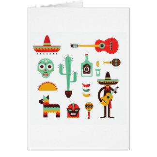 Cartão mariachi mexicano