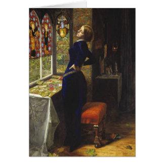 Cartão Mariana, John Everett Millais, 1851