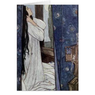 Cartão Mariana, poema pelo senhor Tennyson de Alfred,
