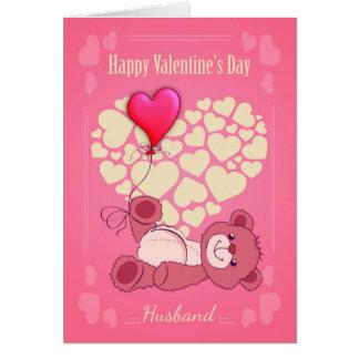 Cartão Marido, dia dos namorados com urso de ursinho e