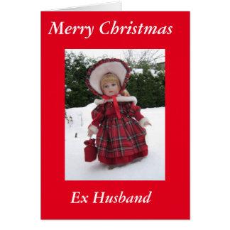 Cartão Marido ex do Feliz Natal