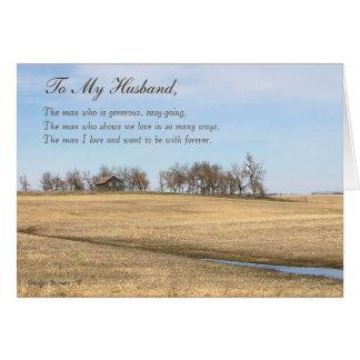 Cartão Marido feliz do dia dos pais, casa velha #2H da