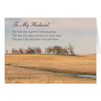 Cartão Marido feliz do dia dos pais, casa velha #3H da
