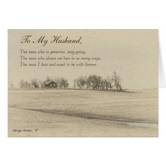 Cartão Marido feliz do dia dos pais, Sepia Home #4H da