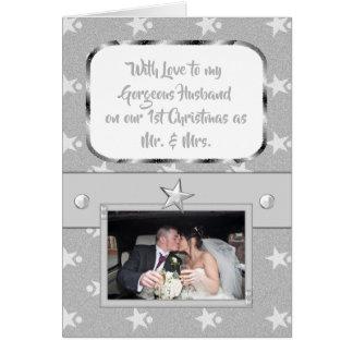 Cartão Marido lindo personalizado do primeiro Natal