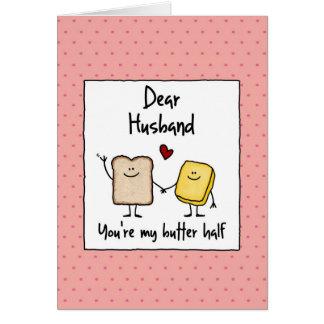 Cartão Marido - manteiga meia - dia dos namorados