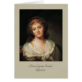 Cartão Marie-Geneviève Bouliard, Auto-retrato