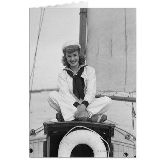 Cartão Marinheiro da mulher