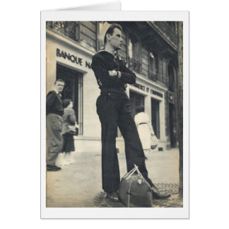 Cartão Marinheiro em Paris