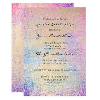 Cartão Marinho azul brilhante do rosa formal Pastel do