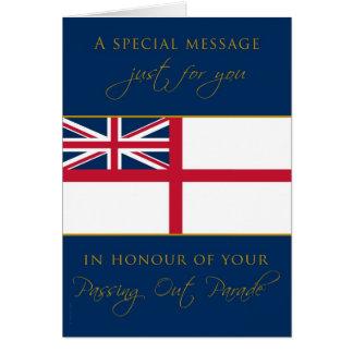 Cartão Marinho que passa para fora a parabéns a bandeira