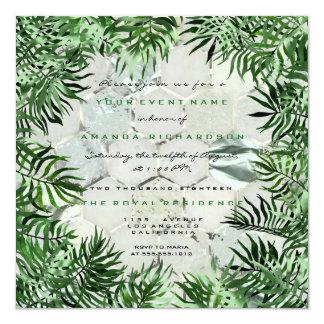 Cartão Mármore cinzento do quadro das folhas de palma da