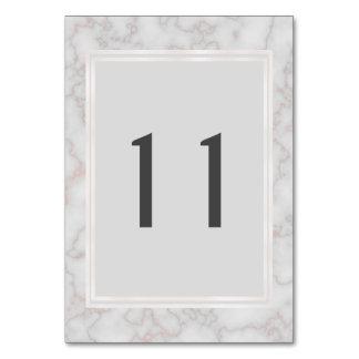 Cartão mármore cinzento e cor-de-rosa de   da mesa