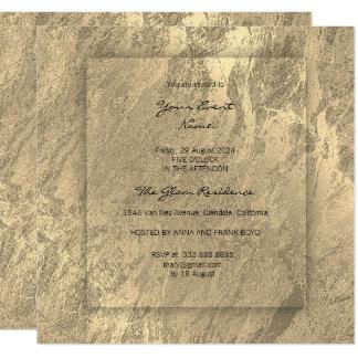 Cartão Mármore conceptual do ouro mínimo do Sepia 3-Faux