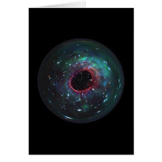 Cartão Mármore da bolha do espaço