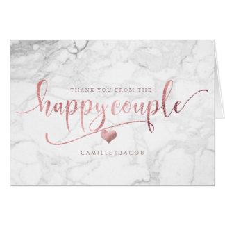 Cartão Mármore de PixDezines+Ouro cor-de-rosa do