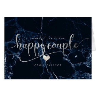 Cartão Mármore de PixDezines+Prata do falso/casal feliz