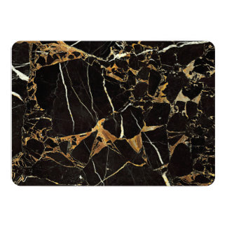 Cartão Mármore preto do ouro - ADICIONE o texto se