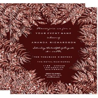 Cartão Marrom cor-de-rosa do cobre do ouro do quadro