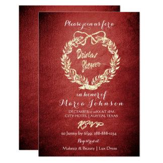 Cartão Marrom floral do ouro do falso da grinalda do chá