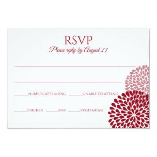 Cartão | Marsala do crisântemo RSVP & malva