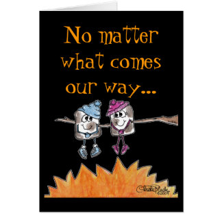 Cartão Marshmallows brindados