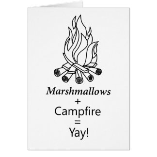 Cartão Marshmallows + Fogueira = Yay!