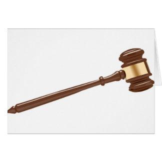 Cartão Martelo do juiz