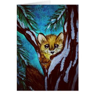 Cartão Marten de pinho