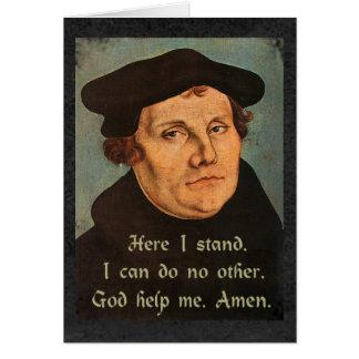 Cartão Martin Luther aqui eu estou a cotação religiosa