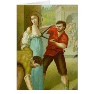 Cartão Martírio de St. Agatha (M 003)