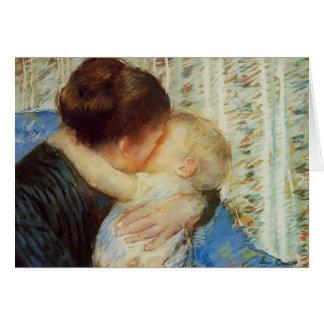 Cartão Mary Cassatt: Mãe e criança