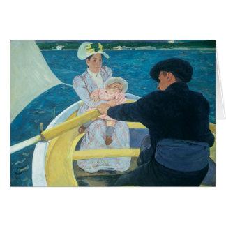 Cartão Mary Cassatt - o partido do barco