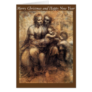 Cartão Mary, cristo, St Anne e o St John infantil