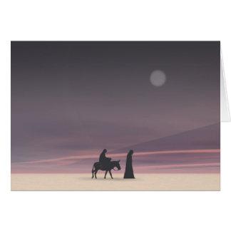 Cartão Mary e Joseph no luar