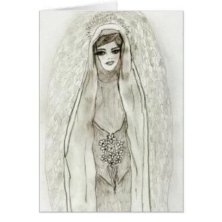Cartão Mary na gruta