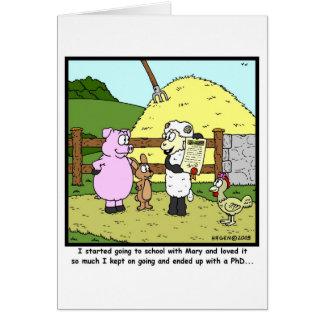 Cartão Mary teve um cordeiro pequeno…