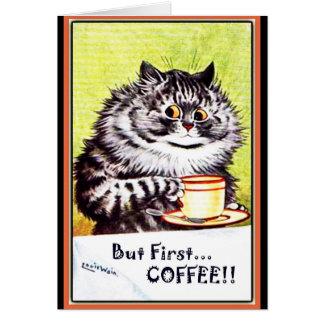 """Cartão """"Mas gato Cartão-Louis Wain do vintage do primeiro"""