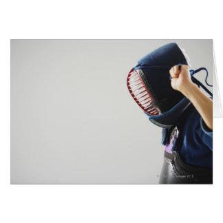 Cartão Máscara da asseguração do esgrimista de Kendo