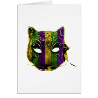 Cartão Máscara do carnaval da mulher-gato