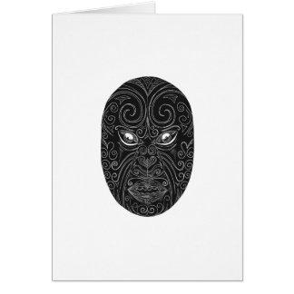 Cartão Máscara maori Scratchboard