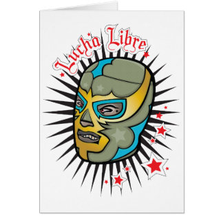 Cartão Máscara mexicana da luta de Lucha Libre