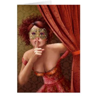 """Cartão """"mascarada """""""