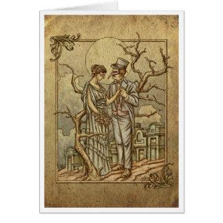 """Cartão """"Mascarada da meia-noite"""" (poema do Dia das"""