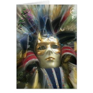 Cartão Mascarada das cores